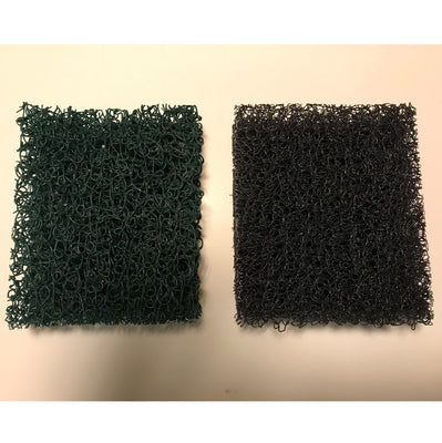 Matala 4pc Green and Gray Filter Foam Set for Fish Mate® 2000 GUV and 3000 GUV Filters