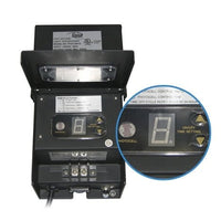Digital display on the Alpine 200 Watt Lighting Transformer with Photo Cell & Timer