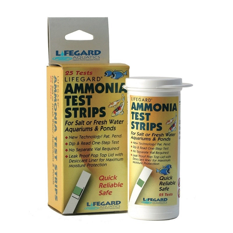 Lifegard Aquatics Ammonia Test Strips, Package of 25 Strips