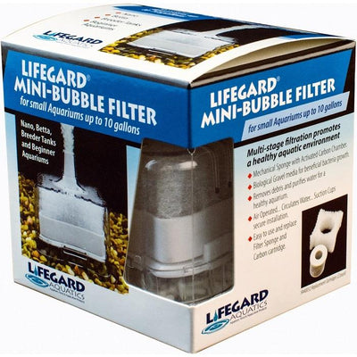 Lifegard Aquatics Mini-Bubble Filter for Small Fish Tanks