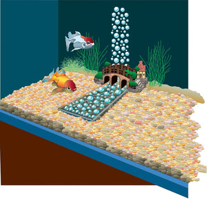 Lifegard Aquatics Underwater River™ with Air Pump