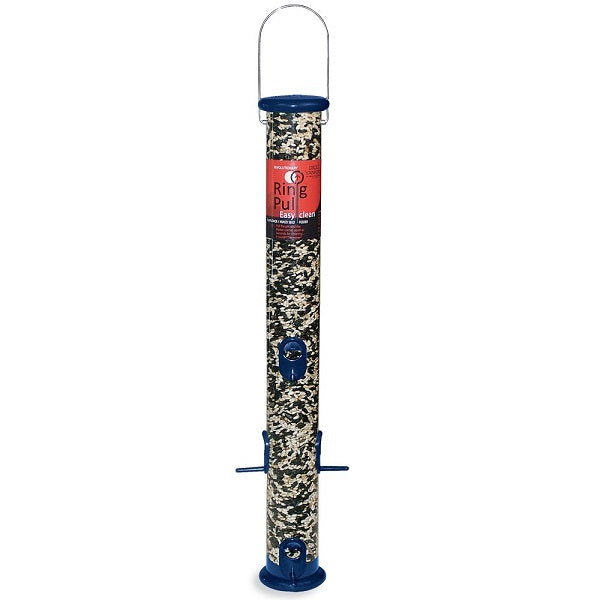 "Droll Yankees® Ring Pull 23"" Midnight Blue Sunflower/Mixed Seed Feeder"