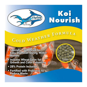 Anjon Manufacturing Thrive Koi Nourish Cold Weather Formula Fish Food