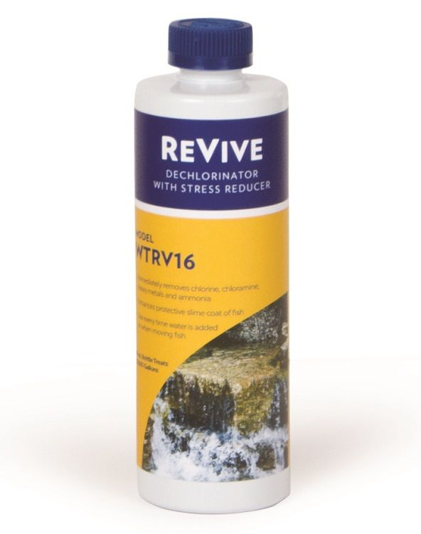Atlantic Water Gardens ReVive Dechlorinator with Stress Reducer, 16 Ounce Bottle