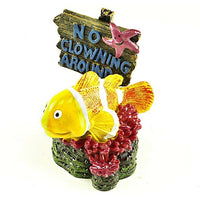 """No Clowning Around"" Clown Fish Aquarium Ornament"