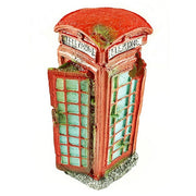 Old English Telephone Box Aquarium Ornament