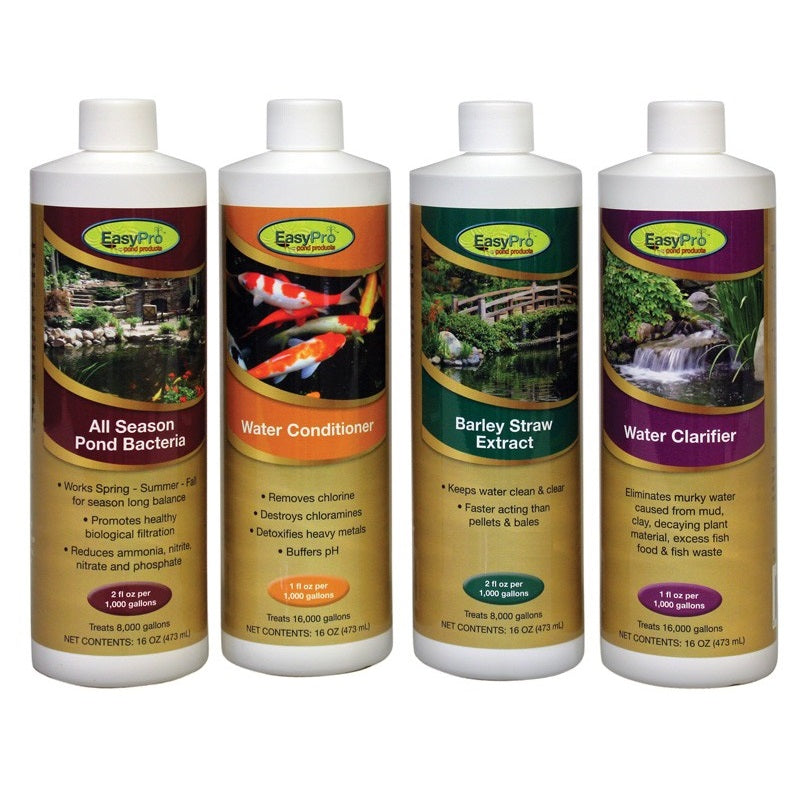 EasyPro All-In-One Pond Package with Bacteria, Barley Extract, Clarifier and Conditioner
