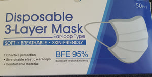 Surgical Face masks - Certified- BFE 95%