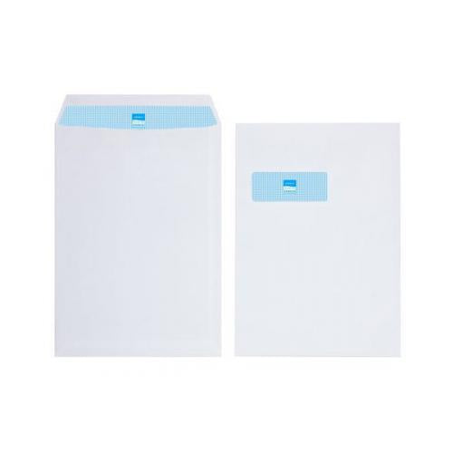 Initiative Envelope C4 Self Seal Window 100gsm White Pack 250