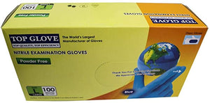 Disposable Gloves -Blue Nitrile- Large