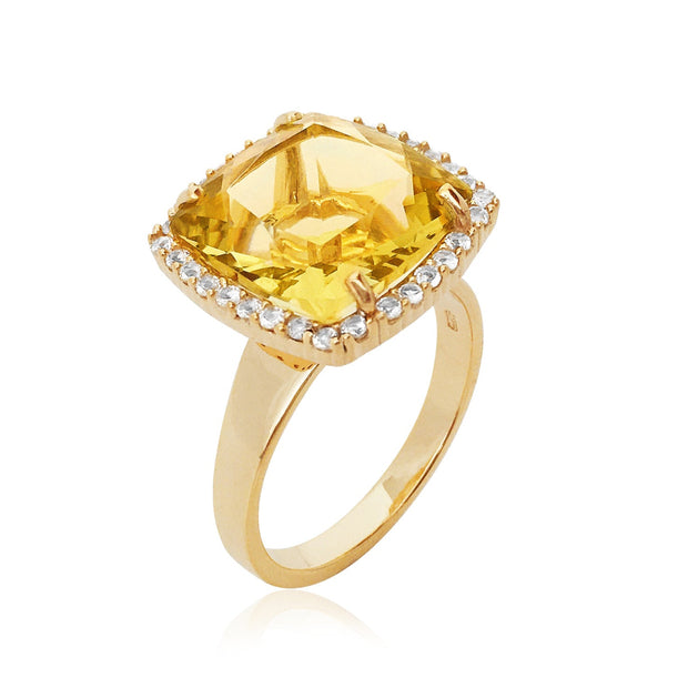 DEUX Ring (1145) - Light Citrine / YG