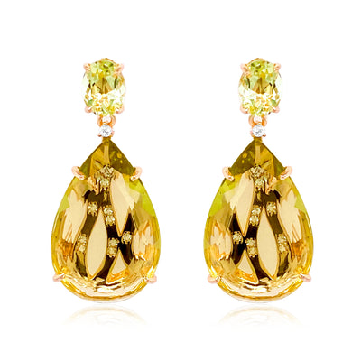 TRANSPARENZA Earrings - Lemon Citrine / RG