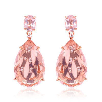 TRANSPARENZA Earrings - Rose Quartz / RG