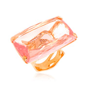 TRANSPARENZA Ring - Rose Quartz / RG