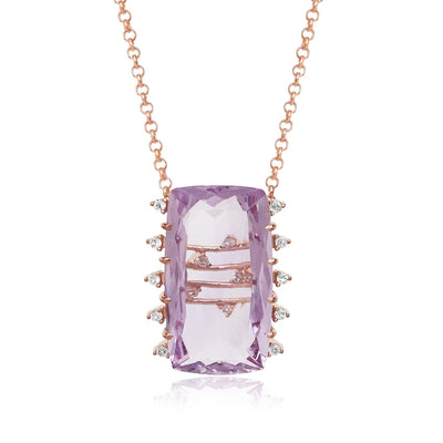 TRANSPARENZA Necklace - Pink Amethyst / RG