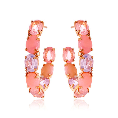 VILLA RICA Earrings - Mix Gemstones / RG