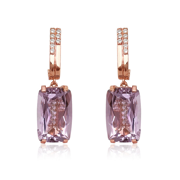 TRANSPARENZA Earrings - Pink Amethyst / RG