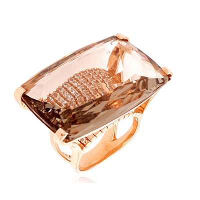 TRANSPARENZA Ring - Smoky Quartz / RG