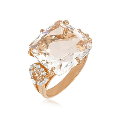 DEUX Ring (1145) - Crystal / RG