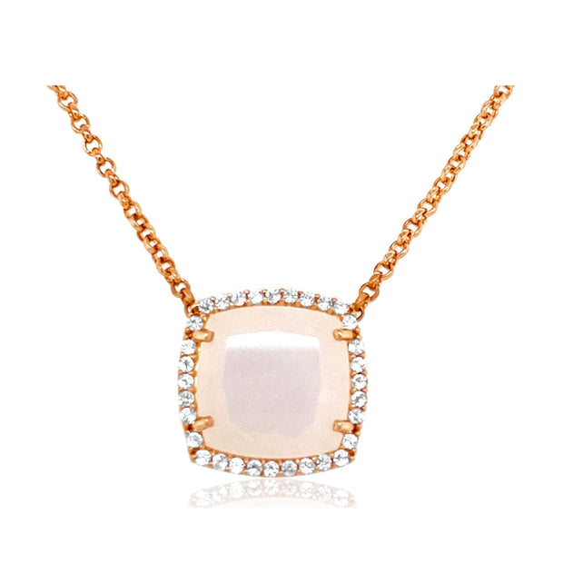 DEUX Necklace (1145) - Opal Quartz / RG