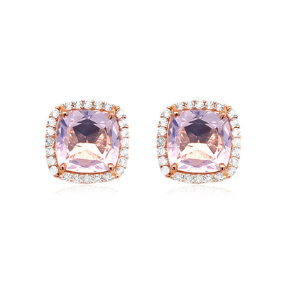 DEUX Earrings (1145) - Lilac Opal Amethyst / RG