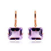 COLUNA Earrings - Pink Amethyst / RG