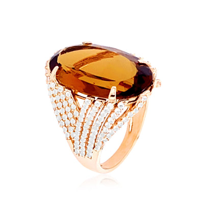VILLA RICA Ring - Whisky Citrine / RG