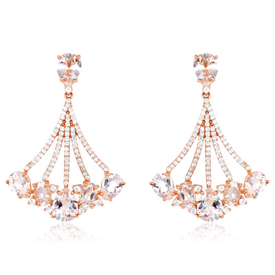 VILLA RICA Earrings - Crystal / RG