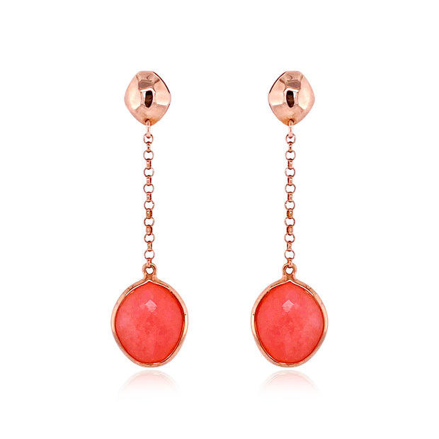 PANORAMA Earrings - Rose Chalcedony / RG