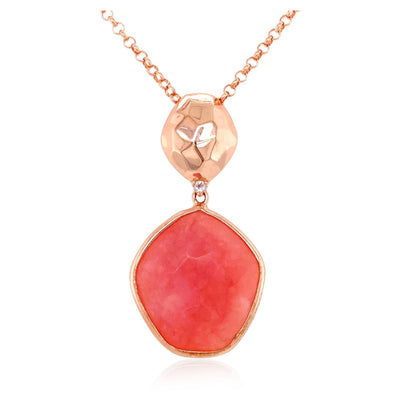 PANORAMA Necklace - Rose Chalcedony / RG