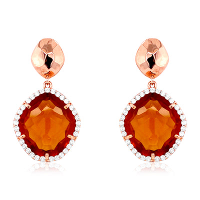 PANORAMA Earrings - Whisky Citrine / RG