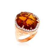 PANORAMA Ring - Whisky Citrine /  RG
