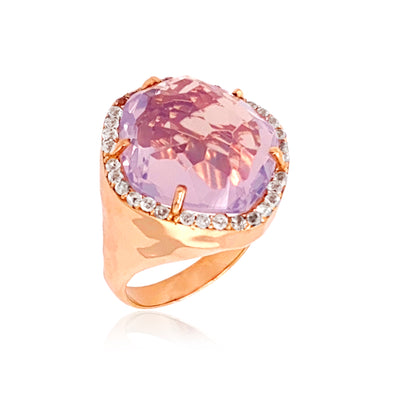 PANORAMA Ring - Lilac Opal Amethyst /  RG