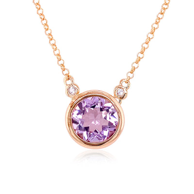 SIGNATURE Necklace - Pink Amethyst / RG