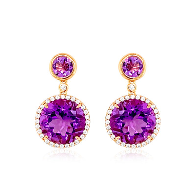 SIGNATURE Earrings - Amethyst / RG