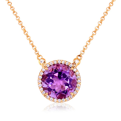 SIGNATURE Necklace - Amethyst / RG