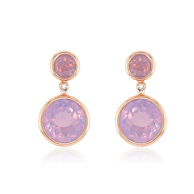 SIGNATURE Earrings - Lilac Opal Amethyst / RG