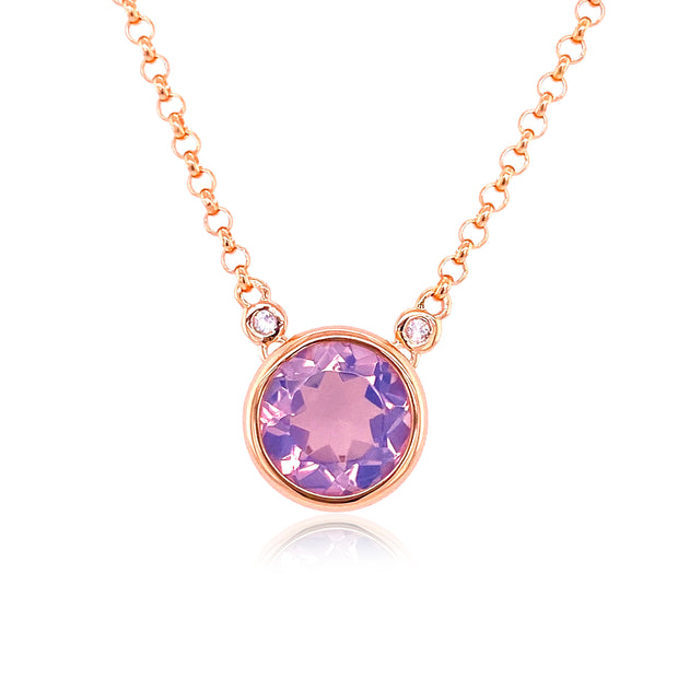 SIGNATURE Necklace - Lilac Opal Amethyst / RG