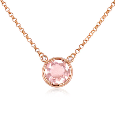 SIGNATURE Necklace - Rose Quartz / RG