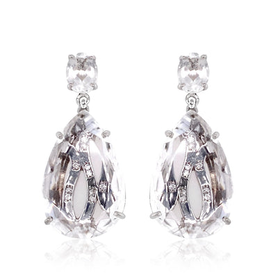 TRANSPARENZA Earrings - Crystal / SS