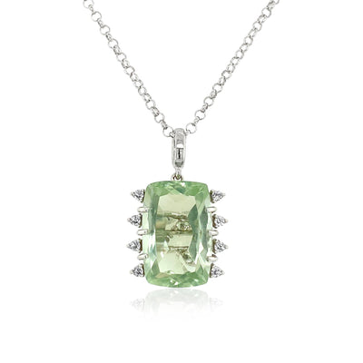 TRANSPARENZA Necklace - Prasiolite / SS