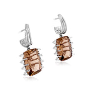 TRANSPARENZA Earrings - Smoky Quartz / SS