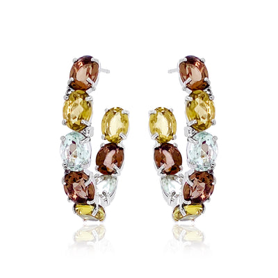VILLA RICA Earrings - Mix Gemstones / SS