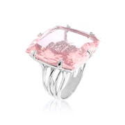 TRANSPARENZA Ring - Rose Quartz / SS