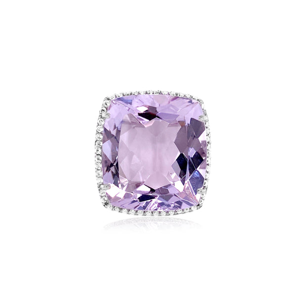 ECLECTIC Ring - Pink Amethyst / SS