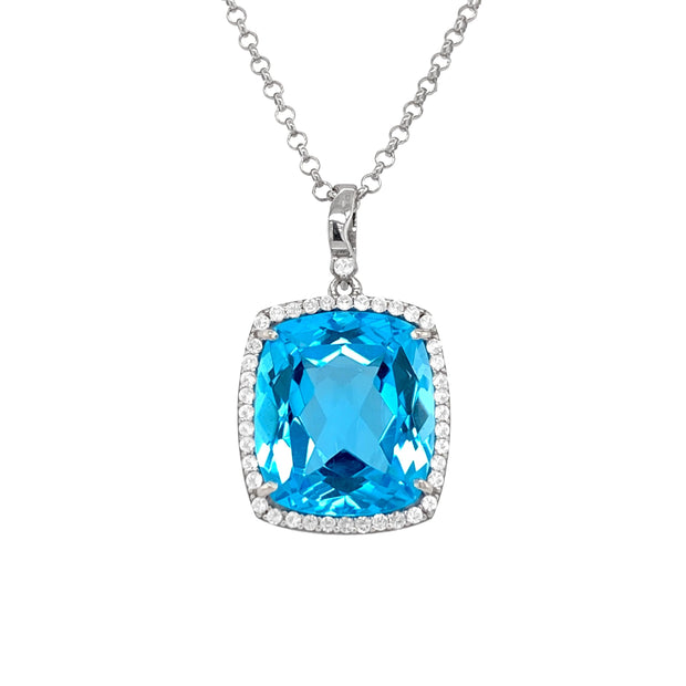 ECLECTIC Necklace - Blue Topaz / SS