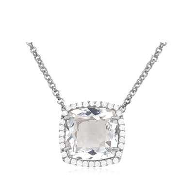 DEUX Necklace (1145) - Crystal / SS