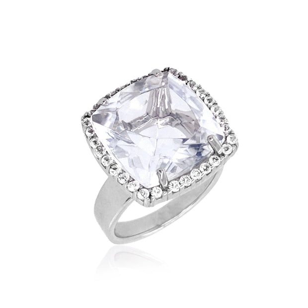 DEUX Ring (1145) - Crystal /  SS