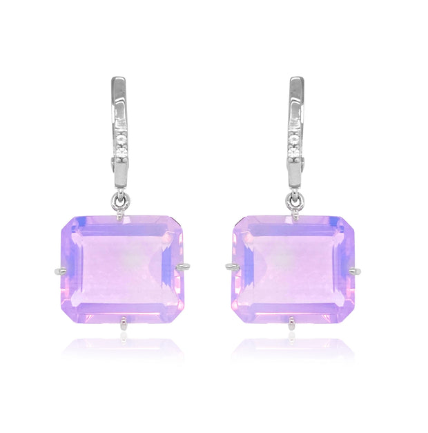 COLUNA Earrings - Lilac Opal Amethyst / SS