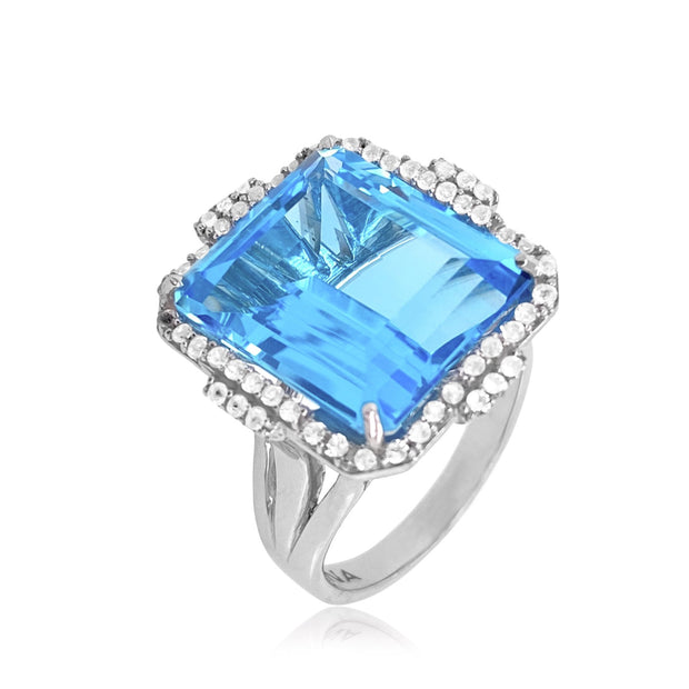 ECLECTIC Ring - Blue Topaz / SS